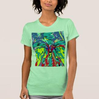 Fuente de la juventud - modelo floral de la energí camisetas