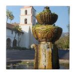 Fuente de la misión de Santa Barbara Azulejos