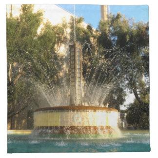 Fuente de la refrigeración por agua en Pasadena Servilletas