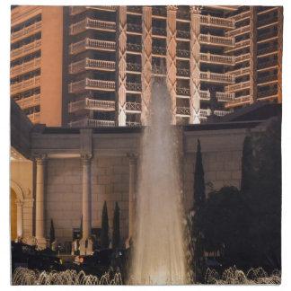 Fuente de Las Vegas en night_.jpg Servilleta Imprimida