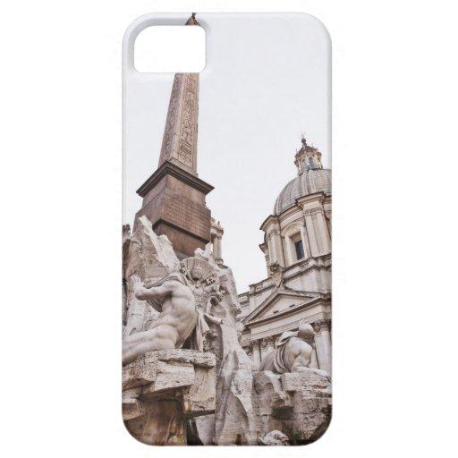 Fuente de los cuatro ríos y obeliscos iPhone 5 carcasas