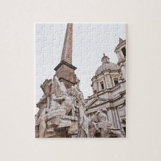 Fuente de los cuatro ríos y obeliscos puzzles