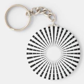 Fuente de luz - rueda blanca negra de la chispa de llaveros personalizados