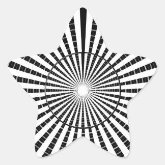Fuente de luz - rueda blanca negra de la chispa de pegatina en forma de estrella
