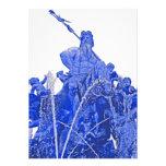 Fuente de Neptunes, Alexanderplatz, Berlín, azul ( Anuncio Personalizado