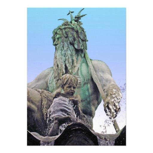 Fuente de Neptunes, Alexanderplatz, Berlín, cielo  Comunicados