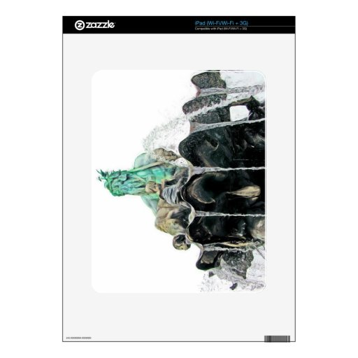 Fuente de Neptunes, Alexanderplatz, en los aceites Calcomanías Para El iPad