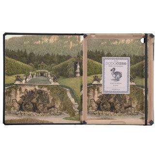 Fuente de Neptuno castillo de Linderhof Alemania iPad Cárcasa