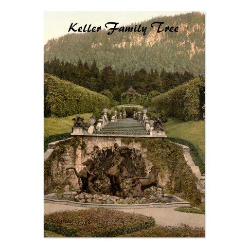 Fuente de Neptuno, castillo de Linderhof, Alemania Tarjetas De Visita Grandes