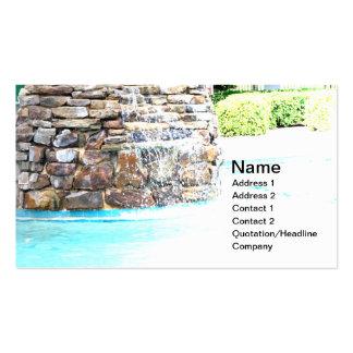 fuente de piedra para una piscina del inground tarjetas de visita