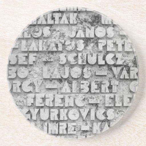 Fuente de piedra secreta posavasos de arenisca