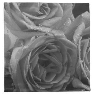 Fuente de rosas servilletas de papel
