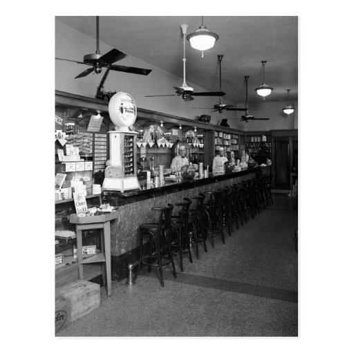 Fuente de soda de Dixie, los años 20 Tarjetas Postales