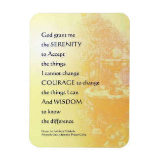 Fuente del amarillo del rezo de la serenidad imanes flexibles