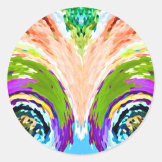 Fuente del arco iris de la juventud V1 - Pegatina Redonda
