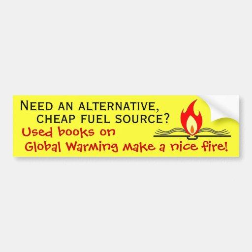 Fuente del combustible alternativo etiqueta de parachoque