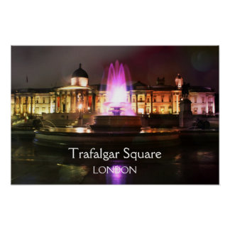 Fuente del cuadrado de Trafalgar Posters