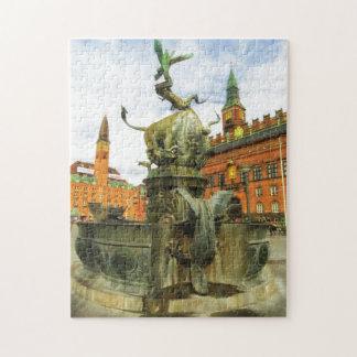 Fuente del dragón en Copenhague Puzzles Con Fotos