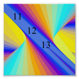 Fuente del fuego del arco iris posters
