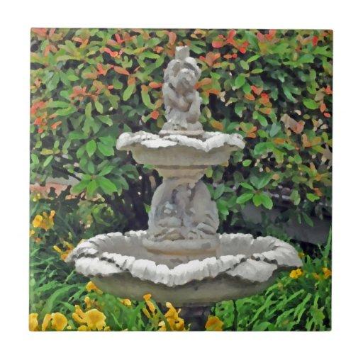 """""""Fuente del jardín """" Teja Ceramica"""