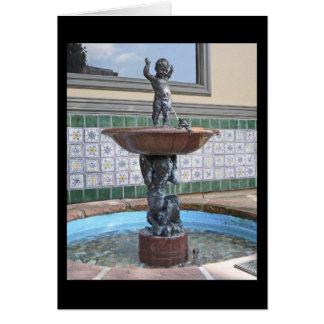 Fuente del muchacho y de la rana de Raffaello Roma Tarjeta De Felicitación