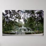 Fuente del parque de Forsyth - poster