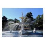 Fuente del parque de Forsyth, sabana, Georgia, Tarjeta De Felicitación