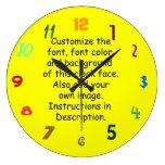 Fuente del personalizar, color de la fuente, fondo reloj