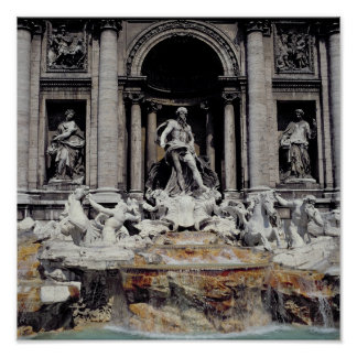 Fuente del Trevi, construida 1732-62 Posters