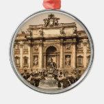 Fuente del Trevi del vintage, Roma, Lazio, Italia Ornamento De Navidad