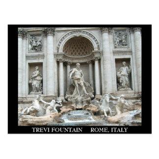 Fuente del Trevi en Roma, Italia Postal