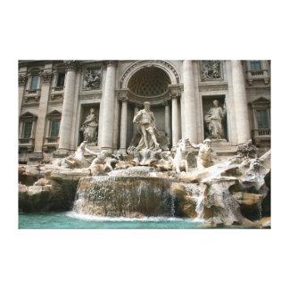 Fuente del Trevi (Fontana di Trevi) - Roma Lona Envuelta Para Galerías