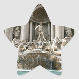 Fuente del Trevi (Fontana di Trevi) - Roma Calcomanía Forma De Estrella Personalizada
