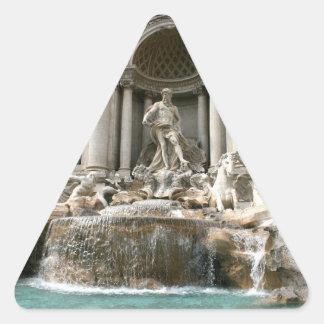 Fuente del Trevi (Fontana di Trevi) - Roma Calcomanía Triangulo Personalizadas