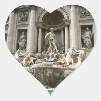 Fuente del Trevi (Fontana di Trevi) - Roma Pegatina Corazon Personalizadas