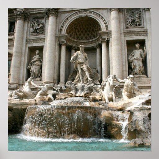 Fuente del Trevi (Fontana di Trevi) - Roma Póster
