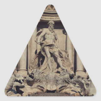Fuente del Trevi Calcomanía De Trianguladas