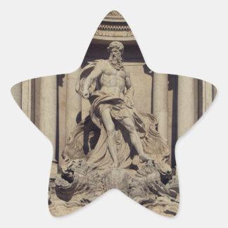 Fuente del Trevi Calcomanías Forma De Estrella