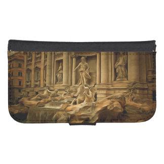 Fuente del Trevi que pinta Roma Fundas Cartera Para Teléfono