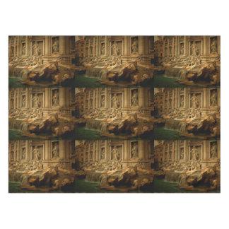 Fuente del Trevi que pinta Roma Mantel De Tela