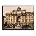 Fuente del Trevi, vintage Photochrom de Roma, Ital Tarjeta Postal
