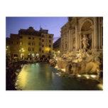 Fuente en la noche, Roma, Lazio, Italia del Trevi Tarjeta Postal