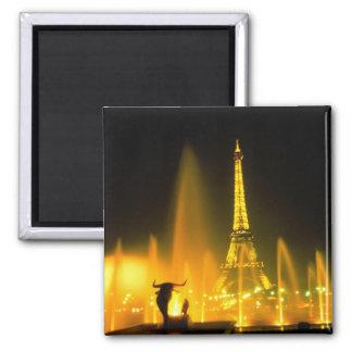 Fuente en la torre Eiffel famosa París Iman De Frigorífico