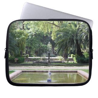 Fuente en Parque de María Luisa, Sevilla Fundas Computadoras