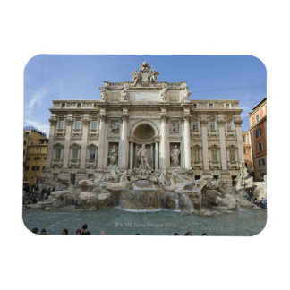 Fuente histórica del Trevi en Roma, Italia Imán Foto Rectangular