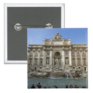 Fuente histórica del Trevi en Roma, Italia Pin Cuadrado