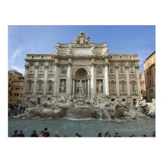 Fuente histórica del Trevi en Roma, Italia Tarjeta Postal