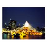 Fuente iluminada, Chicago de Buckingham Postales