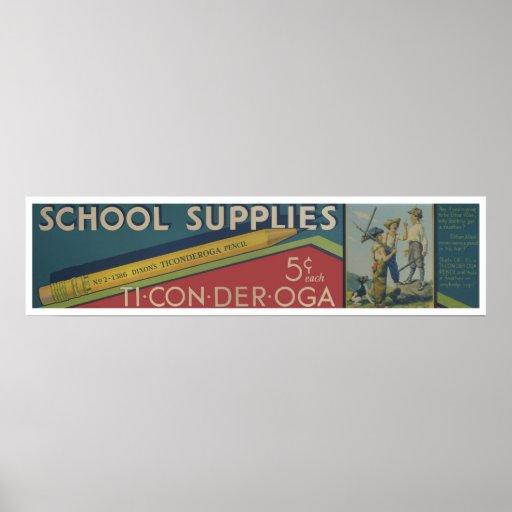 Fuente-Impresión de la escuela Póster