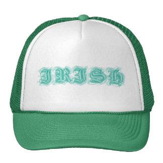 Fuente irlandesa del estilo del tatuaje gorras de camionero